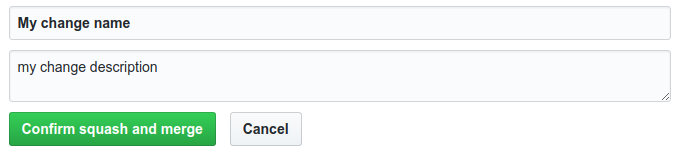 GitHub choose commit message